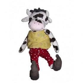 Accueil Z'autres marques Doudou Ikea Vache Blanc pantalon rouge pois blanc pull jaune Pantin