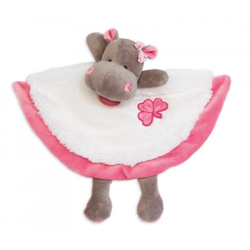 Accueil Babynat doudou Babynat Hippo Blanc Zoe Plat