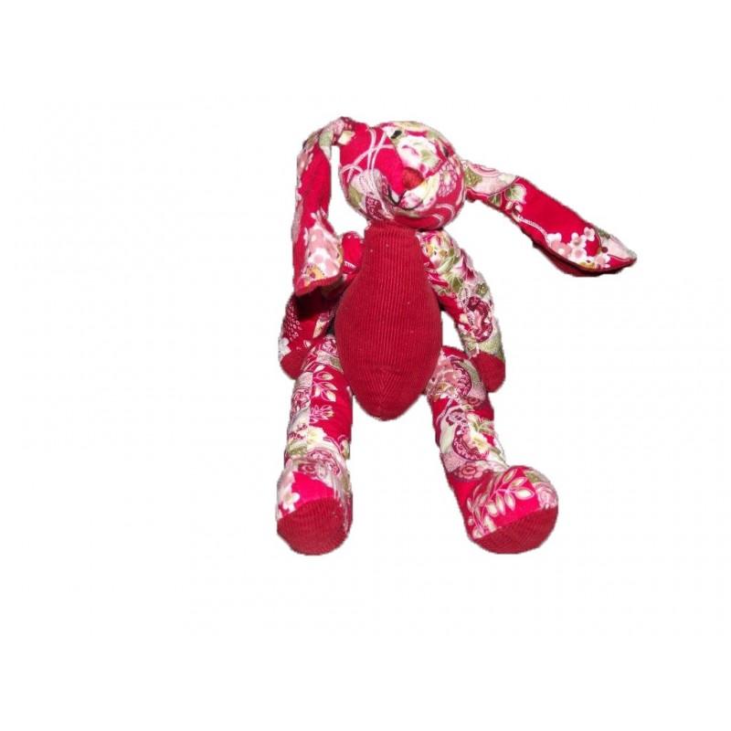 Accueil Z'autres marques Doudou France Gift Lapin Rouge articule fleur Pantin