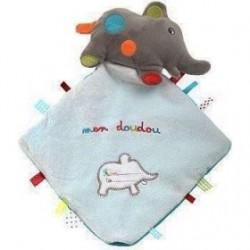 Accueil Z'autres marques Doudou kiabi Elephant Gris mon doudou Plat