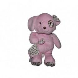 Accueil Z'autres marques Doudou Toys'Rus Chien Rose mouchoir blanc pois marron 30cms Pantin
