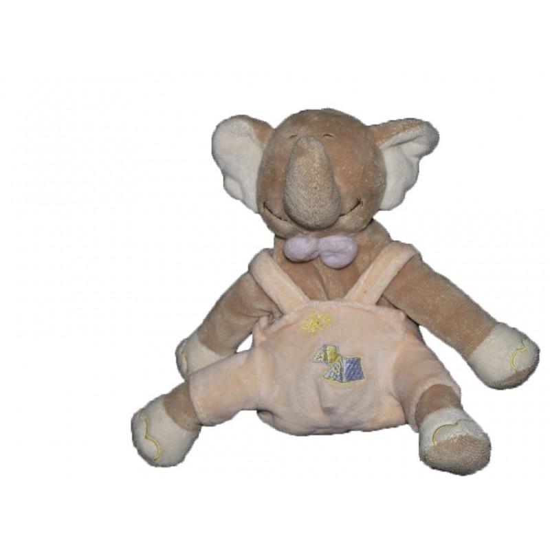 Accueil Z'autres marques Doudou gerca Elephant Beige salopette rose samon tente soleil 18cms Pantin
