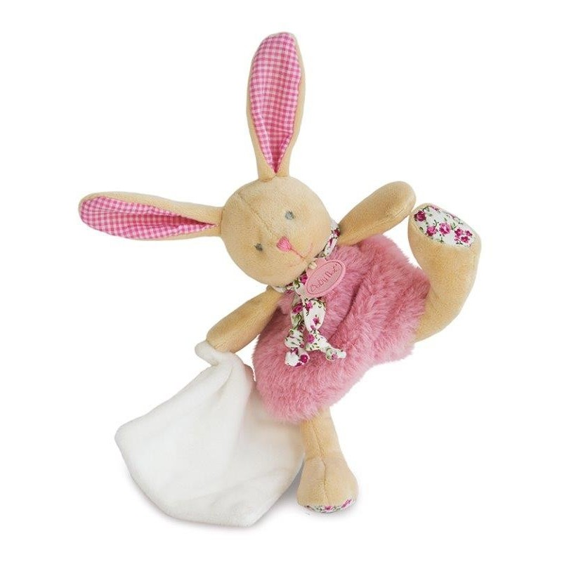 Accueil Babynat doudou Babynat Lapin Rose BN0110 Les Poupis Pantin