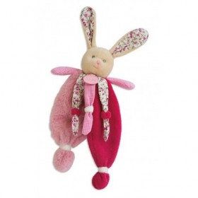Accueil Babynat doudou Babynat Lapin Rose liberty BN0111 Les Poupis Plat
