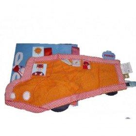 Accueil Z'autres marques Doudou Label Label Mouchoir Orange bus voiture eponge orange etiquette neuf Pantin