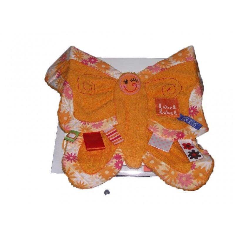 Accueil Z'autres marques Doudou Label Label Papillon Orange eponge orange etiquette neuf plat