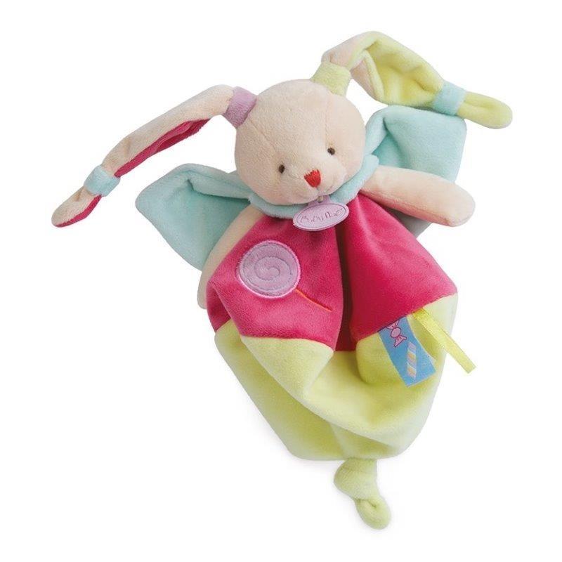 Accueil Babynat doudou Babynat Lapin Rose BN0126 Les Gourmandises Plat