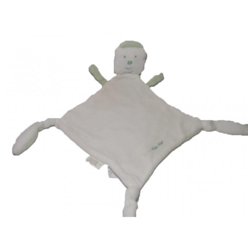 Accueil Z'autres marques Doudou Zot' marques Oiseau Blanc Canari baby blanc et vert croix Plat