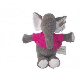 Accueil Z'autres marques Doudou Pericles Elephant Rose Bizoo pull rose fushia 16cms Pantin