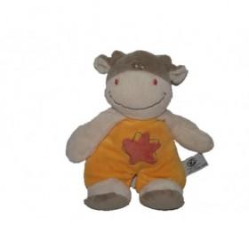 Accueil Z'autres marques Doudou CP international Vache Jaune salopette orange etoile saumon  Hochet