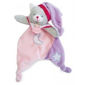 Accueil Babynat doudou Babynat Ours chat Rose BN0138 Les Luminescents Plat