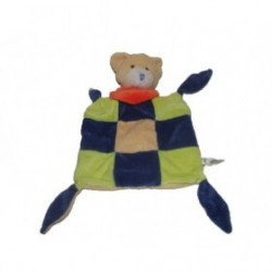 Accueil Z'autres marques Doudou playkids Ours Jaune foulard orange dos jaune Plat