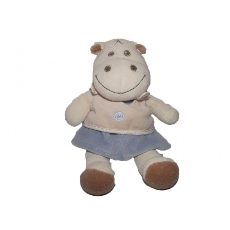 Accueil Z'autres marques Doudou Takinou Hippo Beige robe bleu patte marron 22cms Pantin