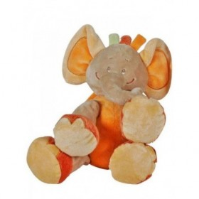 Accueil Z'autres marques Doudou Doukidou Elephant Orange Barry Safari 30cms Pantin