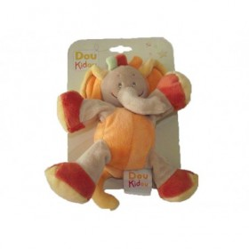 Accueil Z'autres marques Doudou Doukidou Elephant Orange Barry Safari 18cms Pantin