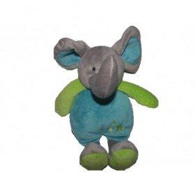 Accueil Z'autres marques Doudou Système U Elephant Bleu les petits elephant  Pantin