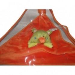 Accueil Z'autres marques Doudou Kikou Creativtoys Souris Vert reversible plat oiseau orange au dos  Plat