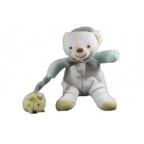 Accueil Babynat doudou Babynat Chat Blanc bras bleu souris jaune 15cms Hochet