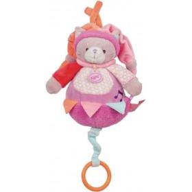 Accueil Babynat doudou Babynat Chat Rose 30cms BN004 Nina Musical