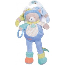 Accueil Babynat doudou Babynat Chat Bleu Nino 30cms BN013 Nino Hochet