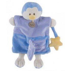 Accueil Babynat doudou Babynat Pingouin Bleu P comme BN909 Alphabet Marionnette