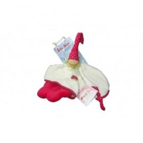 Accueil Z'autres marques Doudou Kathe Kruse Poupee Blanc fleur rouge pois blanc Schmusetuch Gluckspilz Poupee