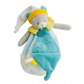 Accueil Babynat doudou Babynat Ours Bleu jaune BN0208 Les Touptis Plat