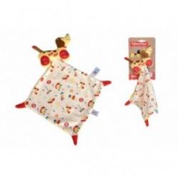 Accueil Z'autres marques Doudou Fisher Price Chien Marron Wouf Wouf Little Snoopy mouchoir Vintage Plat