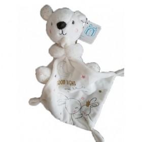 Accueil Z'autres marques Doudou Kiabi Lapin Blanc Pois Dore Good Night Pantin