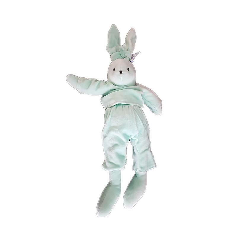 Accueil Z'autres marques Doudou Petits Descamps Lapin Vert Pantalon et Pull 50cms Pantin