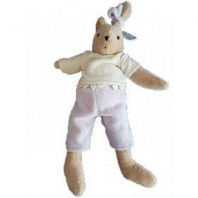 Accueil Z'autres marques Doudou Petits Descamps Lapin Violet Jazzy Guimauve Pull blanc Pantalon 30cms Pantin