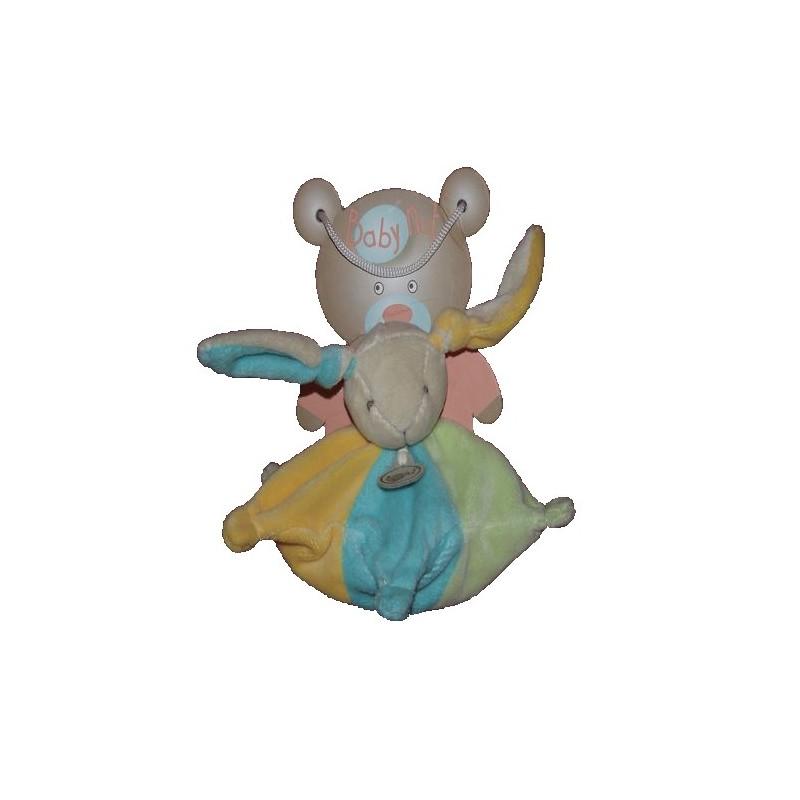 Accueil Babynat doudou Babynat Lapin Jaune BN651 Douceur Flower Plat