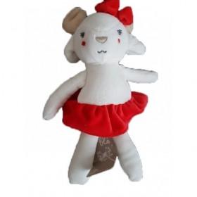 Accueil Z'autres marques Doudou Grain de blé Cerf Blanc Jupe Rouge Pantin