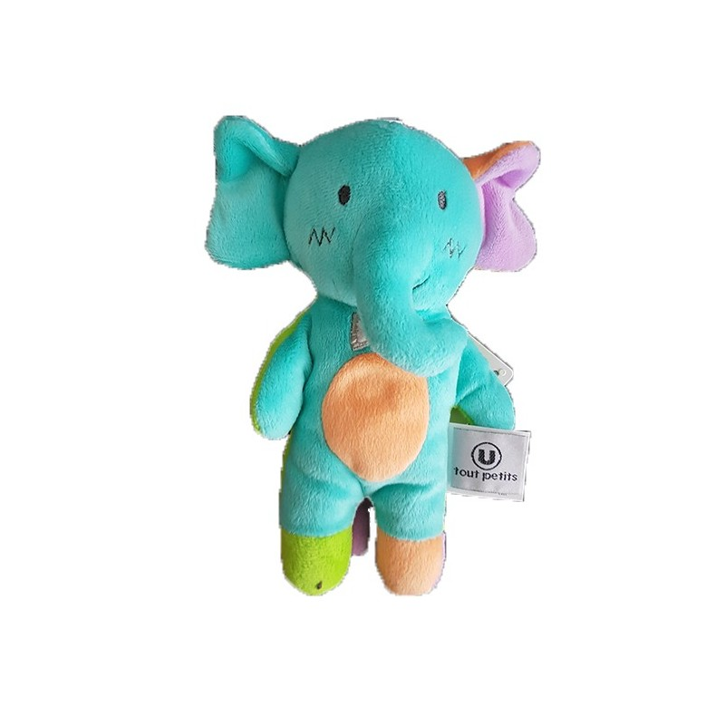 Accueil Z'autres marques Doudou Super U Elephant Bleu Orange 20cms U Tout Petits Pantin