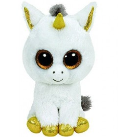 Accueil Z'autres marques Doudou Ty Licorne Blanc Pegasus Corne Or 15cms Licorne Pantin