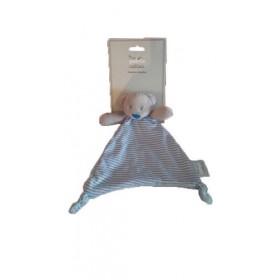 Accueil Z'autres marques Doudou Mes petits Cailloux Ours Bleu Triangle Pois Bleu et Blanc Dos Bleu Plat