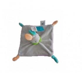Accueil Z'autres marques Doudou Super U Lapin Gris Col Vert Dos Violet 4 nœuds Plat