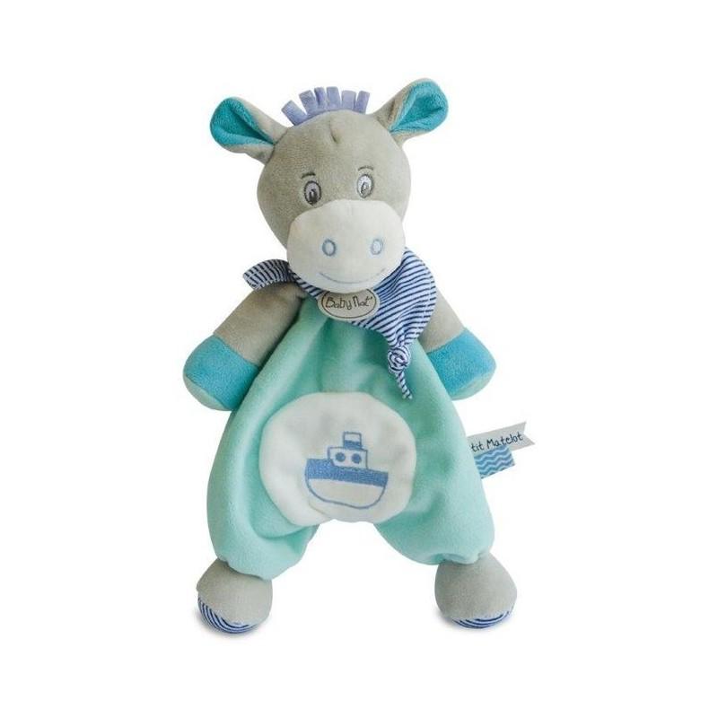 Accueil Babynat doudou Babynat Ane Bleu BN0183 Picotin Plat