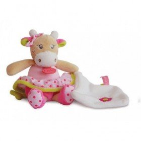 Accueil Babynat doudou Babynat Vache Rose 14cms BN0171 Coquillette Pantin