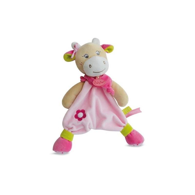 Accueil Babynat doudou Babynat Vache Rose BN0172 Coquillette Plat