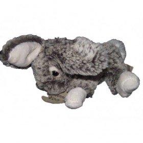 Accueil Doudou et Compagnie Doudou Histoire d'Ours lapin gris blanc fonce HO2033