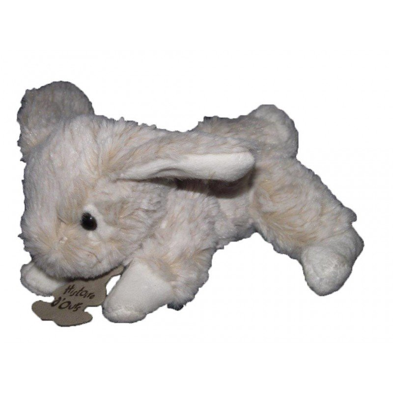 Accueil Histoire d'ours Doudou histoire d ours lapin Z'animoos blanc marron neuf HO2033