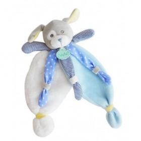 Accueil Babynat doudou Babynat Chien Bleu BN0194 Poupis Plat