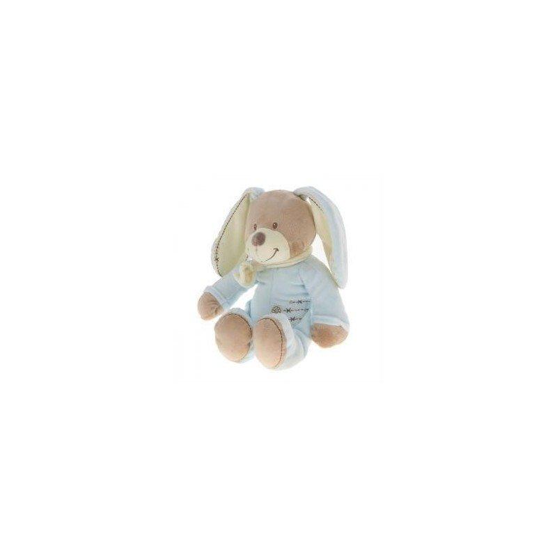 Accueil Nicotoy Doudou Nicotoy chien lapin marron et bleu Cuddles 30cms
