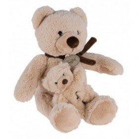 Accueil Babynat Doudou Babynat Baby'nat ours et bebe beige marron boite a musique musical BN942