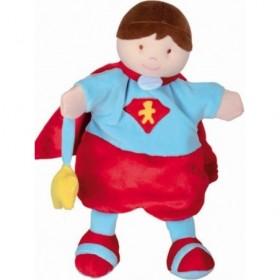 Accueil Doudou et Compagnie Doudou et Compagnie super heros marionnette rouge et bleu DC2354