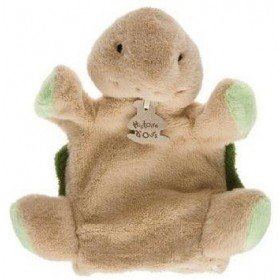 Accueil Histoire d'ours Doudou Histoire d'ours tortue marionnette vert HO2023