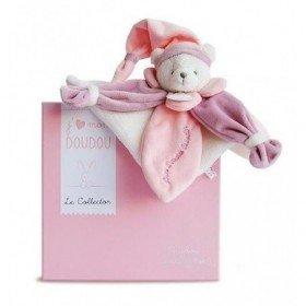 Accueil Doudou et Compagnie Doudou Doudou et Compagnie J'aime mon doudou collector ours plat rose DC2920