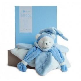 Accueil Doudou et Compagnie Doudou Doudou et Compagnie J'aime mon doudou collector ours plat bleu DC2921