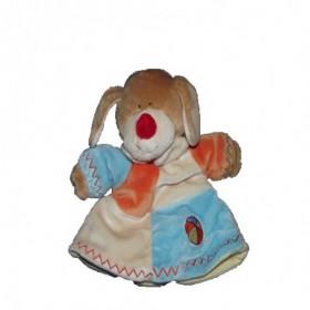 Accueil Z'autres marques Doudou Lascar Chien marionnette bleu jaune orange ballon